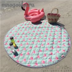 Пляжная сумка-коврик для игрушек Озеро, где живут фламинго
