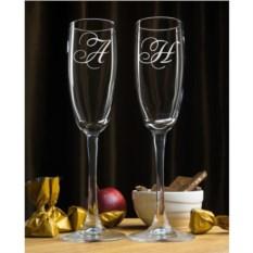 Набор фужеров для шампанского Инициалы