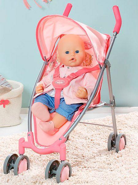 Коляска-трость с козырьком для куклы ANNABELL, Zapf Creation