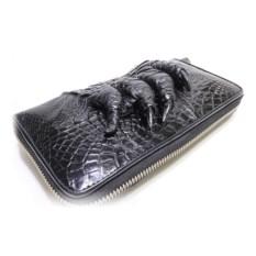 Портмоне из кожи крокодила с лапой