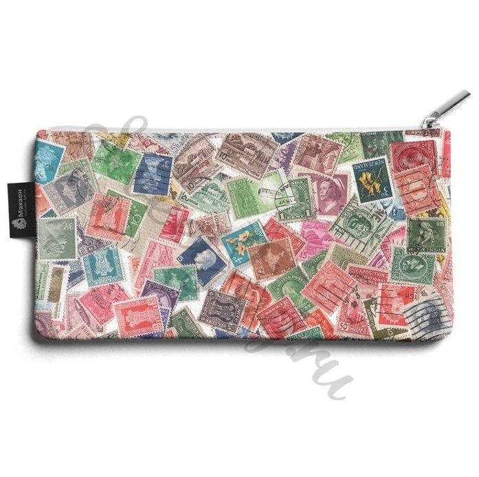 Кожаная косметичка Stamps