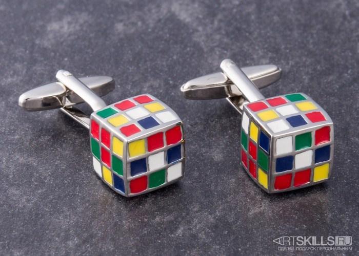 Запонки «Кубик Рубика»