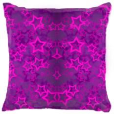 Подушка Фиолетовые звезды