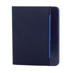 Синяя папка Mokai формата А4 с блокнотом