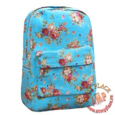 Голубой рюкзак Flower Bouquets