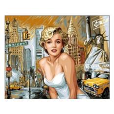 Картины по номерам «Мэрилин на фоне Нью-Йорка»