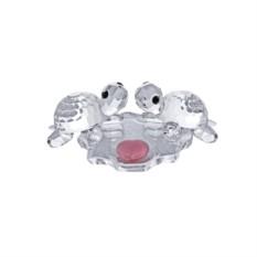 Хрустальная статуэтка Влюбленная пара — черепашки
