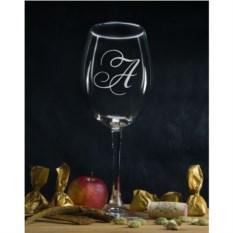 Персональный бокал для вина Инициал