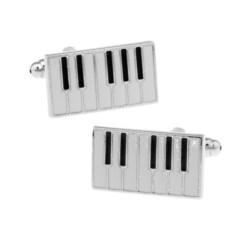 Запонки «Клавиши» в именной коробке с гравировкой