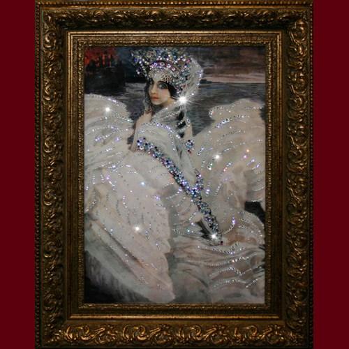 Картина из кристаллов Swarovski Царевна лебедь