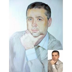 Мужской портрет маслом по фотографии