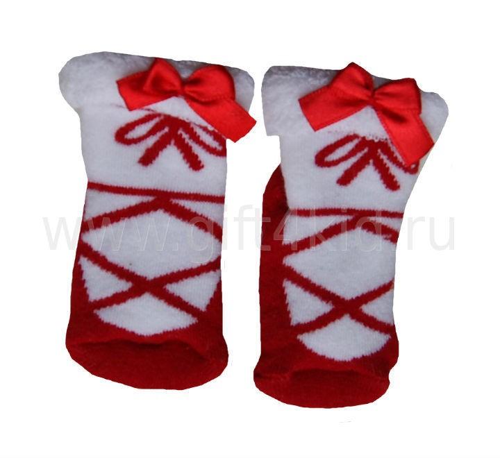 Махровые носочки для новорожденной