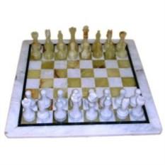 Каменные шахматы Оникс-мрамор