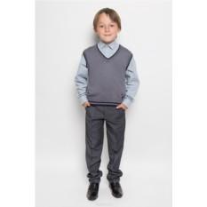 Серый вязаный жилет для мальчика Nota Bene