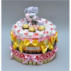 Композиция из конфет Сладкий день рождения