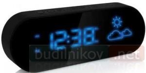 Часы настольные BVItech BV-42BKH с прогнозом погоды