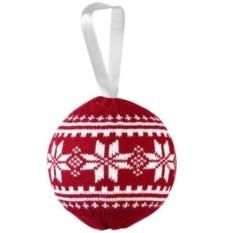 Красный новогодний шар Скандик