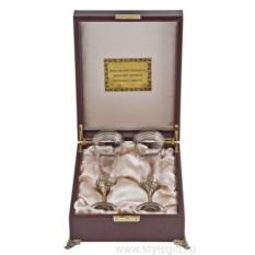 Набор из 2-х бокалов для шампанского Богемия Флорис