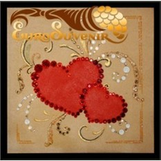Картина Swarovski 2 сердца