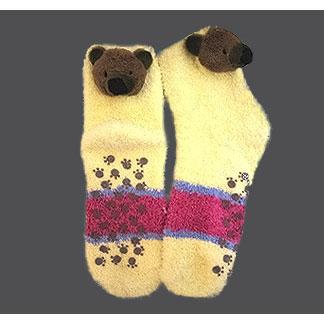 Пушистые носки «Мишка»