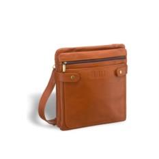 Кожаная сумка через плечо Brialdi Nevada (коричнево-рыжий)