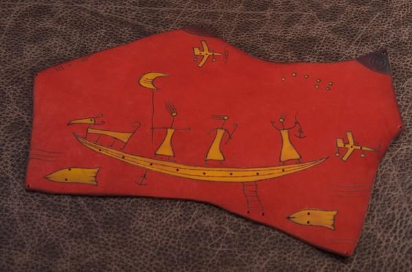 Коврик для мышки Altamira (красный; тип 1; нат. кожа)