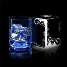 Голубой светящийся бокал для виски GlasShine