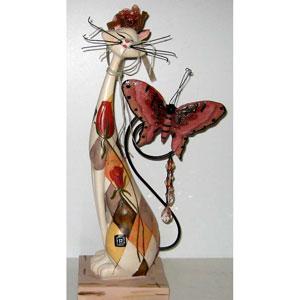 «Кошка с бабочкой»  декоративная