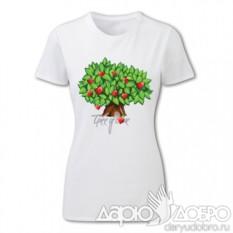 Женская футболка Дерево Любви