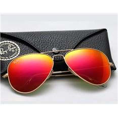 Желтые зеркальные очки Ray Ban Aviator