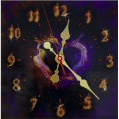 Настенные часы с кристаллами Swarovski Пламенное сердце