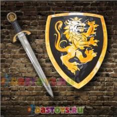 Игровой набор рыцаря Черный щит и меч