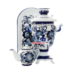 Набор для чаепития Гжель с автоматическим отключением
