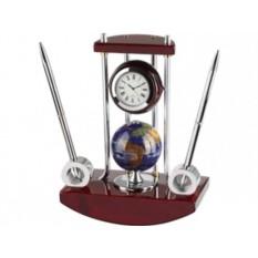 Настольный прибор «Сенатор» с часами, глобусом и 2 ручками