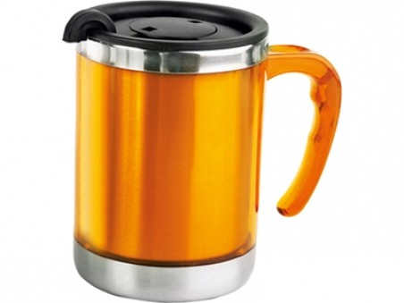 Кружка с термоизоляцией Оранжевая