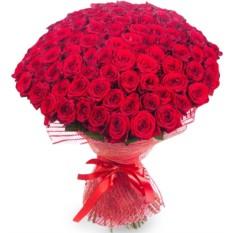 Букет из 101 розы (50 см)