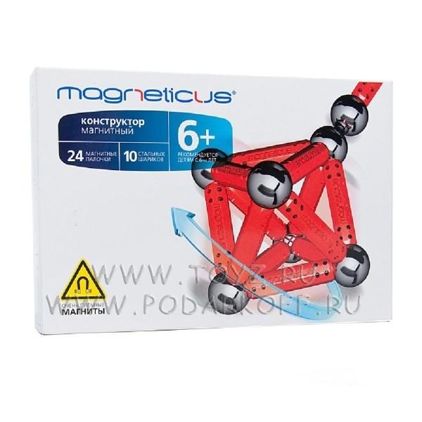 Magneticus конструктор (34 элемента) красный
