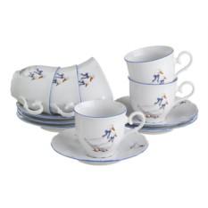 Чайный набор на 6 персон Гуси от Bohemia Porcelan