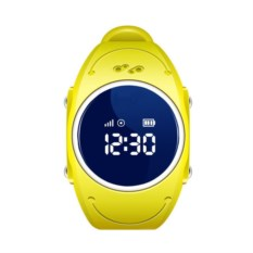 Желтые детские часы с GPS Smart Baby Watch W8