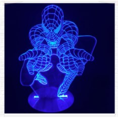 3D лампа Человек Паук