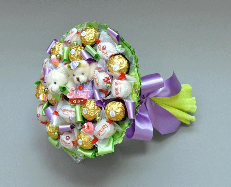 Букет из конфет Сладкая парочка