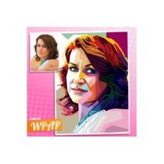 Портрет женщины по фото в стиле WPAP