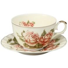Чашка с блюдцем с пионами Rosenberg (250 ml)