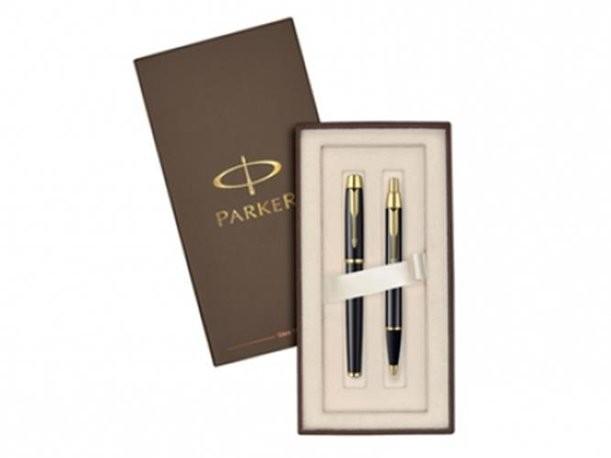 Подарочный набор Parker из роллера и ручки IM Black GT