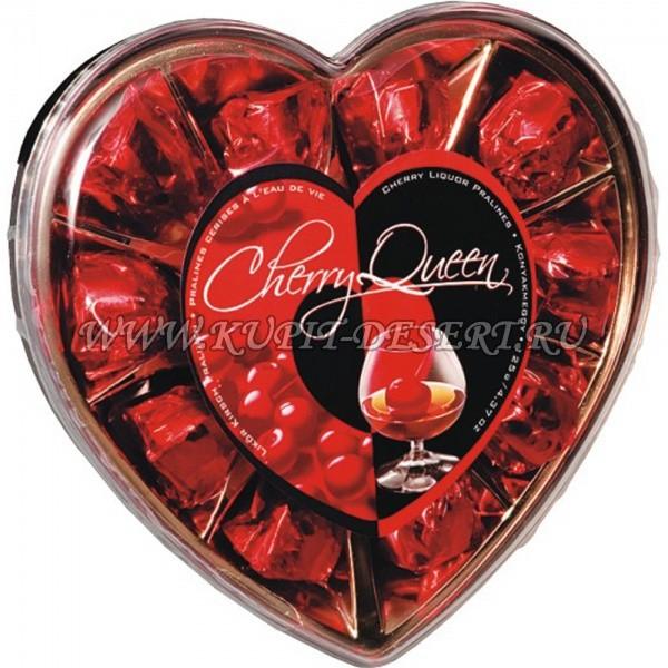 Шоколадные конфеты с вишней в спирте Сердце Bonbonetti