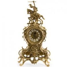 Бронзовые каминные часы Рыцарь