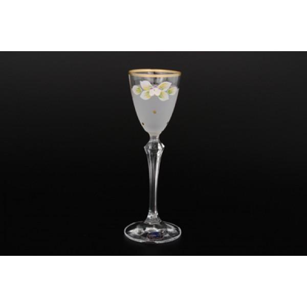 Набор белых матовых рюмок для водки из 6 предметов