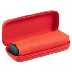 Красный складной зонт в красном чехле Unit Five