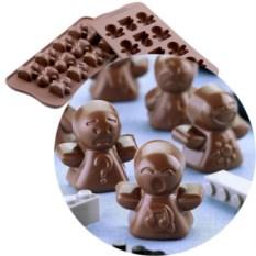 Форма для шоколада «Человечки» EasyChoc Silikomart