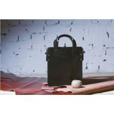 Деловая черная сумка Slim-формата Brialdi Catania